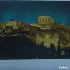 Postales: POSTAL DE ATENAS ( GRECIA ): ACROPOLIS ILUMINADA. Lote 180272515