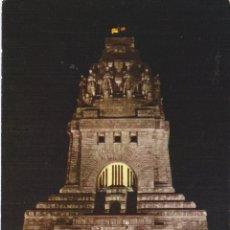 Postales: LEIPZIG, SAJONIA (ALEMANIA) MONUMENTO A LA GRAN BATALLA DE LEIPZIG - FARBFOTOS WOLF - S/C. Lote 180330962