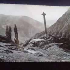 Postales: POSTAL FOTOGRÁFICA ANDORRA VALLS D ANDORRA MERITXELL CREU GÓTICA CIRCULADA. Lote 180392910