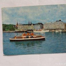 Postales: TARJETA POSTAL - HELSINKI - HELSINGFORS - FINLAND - HOTEL PALACE Y PUERTO SUR - BARCO. Lote 182010463