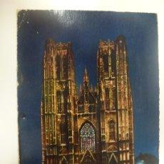 Postales: POSTAL. BRUSELAS. ILLUMINATION. CATHEDRALE ST. MICHEL. ED. ANCIENS. CIRCULADA. . Lote 182165290