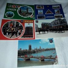Postales: LOTE DE 5 POSTALES DE LONDRES. Lote 182541698