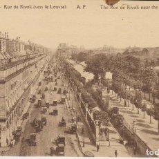 Postales: FRANCIA PARIS CALLE RIVOLI CIRCULACION DE COCHES POSTAL NO CIRCULADA . Lote 182591948