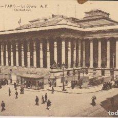 Postales: FRANCIA PARIS LA BOLSA POSTAL NO CIRCULADA . Lote 182592181