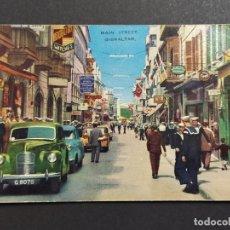 Postales: GIBRALTAR-MAIN STREET-COCHES-VALENROCK SERIES-POSTAL ANTIGUA-VER FOTOS-(64.008). Lote 182636275