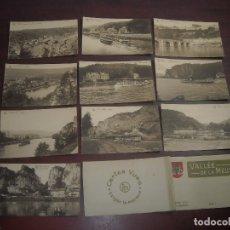 Postales: 10 POSTALES VALLE DE LA MEUSE BRUXELLES. Lote 182638158