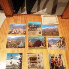 Postales: CARPETA CON 10 MINI POSTALES A COLOR DE INNSBRUCK. Lote 182766426