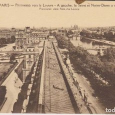 Postales: FRANCIA PARIS PANORAMA DESDE EL LOUVRE POSTAL NO CIRCULADA . Lote 182954465