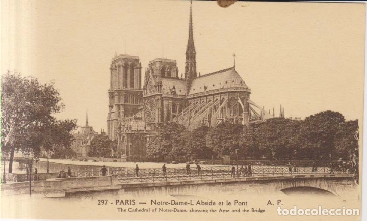FRANCIA PARIS NOTRE DAME POSTAL NO CIRCULADA (Postales - Postales Extranjero - Europa)