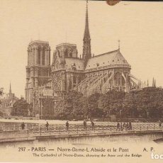 Postales: FRANCIA PARIS NOTRE DAME POSTAL NO CIRCULADA . Lote 182954643