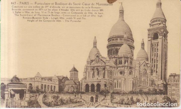 FRANCIA PARIS SACRE COEUR POSTAL NO CIRCULADA (Postales - Postales Extranjero - Europa)