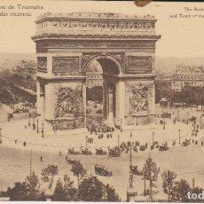 Postales: FRANCIA PARIS ARCO DE TRIUNFO POSTAL NO CIRCULADA . Lote 182954982