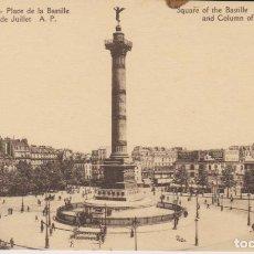 Postales: FRANCIA PARIS PLAZA DE LA BASTILLA POSTAL NO CIRCULADA . Lote 182955131