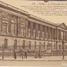 Postales: FRANCIA PARISLAS COLUMNAS DEL LOUVRE POSTAL NO CIRCULADA . Lote 182955506