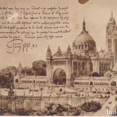 Postales: FRANCIA LISIEUX LA BASILICA 1931 POSTAL CIRCULADA . Lote 182955742