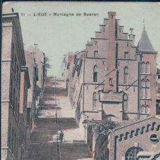 Postales: POSTAL BELGICA - LIEGE - MONTAGNE DE BUEREN - EDITION DU GRAND BAZAR DE LA PLACE SAINT LAMBERT. Lote 182959600