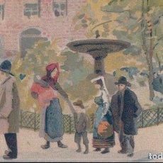 Postales: POSTAL DIBUJO PLACE PIGALLE - PARIS - FRANCIA. Lote 182962766