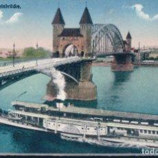 Postales: POSTAL ALEMANIA - BONN - RHEINBRUCKE - BARCO VAPOR. Lote 182964116