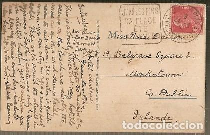 Postales: Francia & Circulado, Juan les Pins, Casino Municipal y Playa,, Dublín Irlanda 1924 (195) - Foto 2 - 183610508