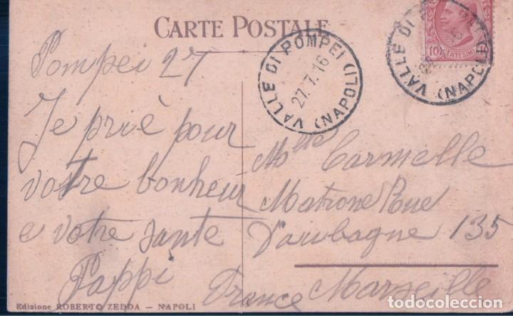 Postales: POSTAL SS MADONNA DEL ROSARIO IN VALLE DI POMPEI - A PIE DI QUESTA IMMAGINE HO PREGATO PER VOI - Foto 2 - 184345460