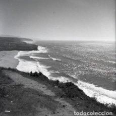 Postales: NEGATIVO PORTUGAL ERICEIRA PLAYA 1966 KODAK 55MM GRAN FORMATO NEGATIVE PHOTO FOTO PANORÁMICA PRAIA. Lote 184721747