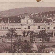 Postales: FRANCIA NICE CASINO MUNICIPAL , TRANVIAS 1932 POSTAL CIRCULADA. Lote 184938938