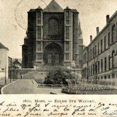 Postales: MONS EGLISE STE WAUDRU. Lote 185657277
