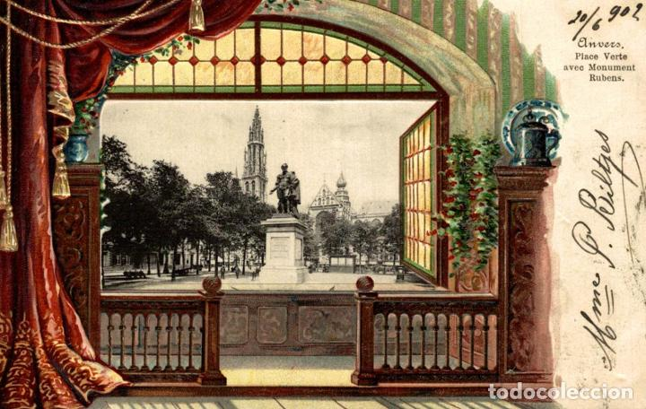 ANVERS ANTWERPEN ANVERS PLACE VERTE AVEC MONUMENT RUBENS (Postales - Postales Extranjero - Europa)