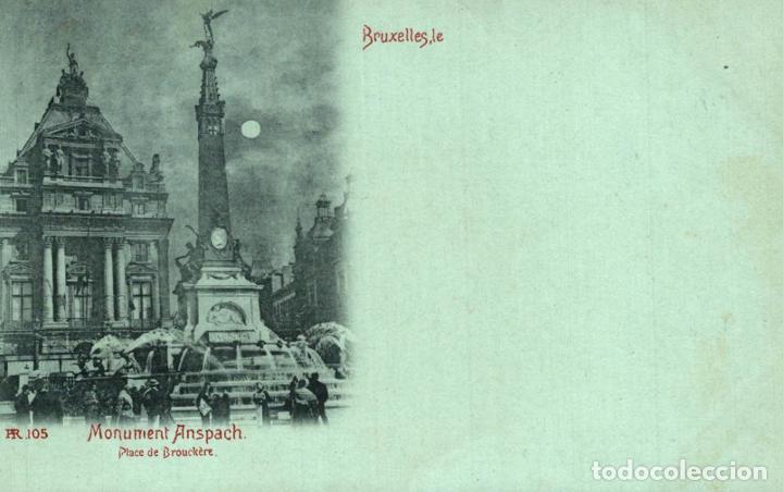 BRUXELLES MONUMENT ANSPACH PLACE DE BROUCKERE (Postales - Postales Extranjero - Europa)