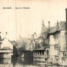 Postales: BRUGGE BRUGES QUAI DU ROSAIRE. Lote 185663691