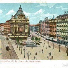 Postales: BRUXELLES PERSPECTIVE DE LA PLACE DE BROUCKERE. Lote 185664502