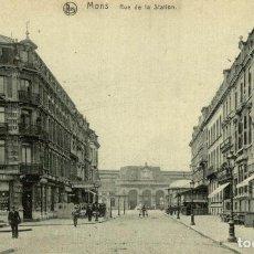 Postales: MONS RUE DE LA STATION. Lote 185665097