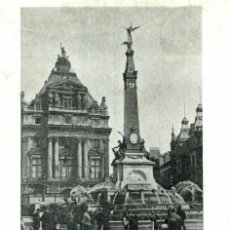 Postales: 1906 BRUXELLES MONUMENT ANSPACH. Lote 185666290