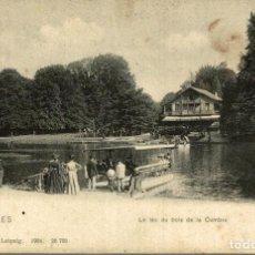 Postales: BRUXELLES LE LAC DU BOIS DE LA CHAMBRE. Lote 185666821