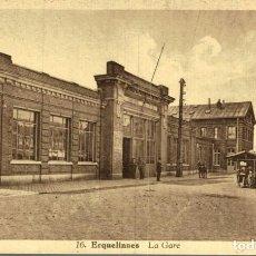 Postales: ERQUELINNES LA GARE. Lote 185674893
