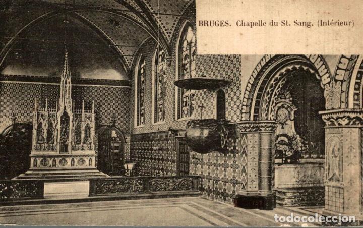 BRUGGE BRUGES CHAPELLE DU ST SANG INTERIEUR (Postales - Postales Extranjero - Europa)