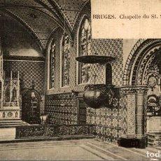 Postales: BRUGGE BRUGES CHAPELLE DU ST SANG INTERIEUR. Lote 185676103