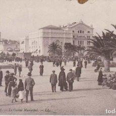 Postales: FRANCIA CANNES EL CASINO MUNICIPAL 1913 POSTAL CIRCULADA. Lote 185689641