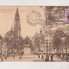 Postales: ANTWERPEN ANVERS GROENPLAATS PLACE VERTE. Lote 185712285
