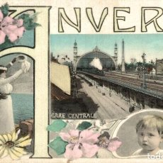 Postales: ANVERS - GARE CENTRALE. Lote 185716183