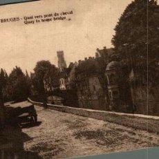 Postales: BRUGGE BRUGES QUAI VERS PONT DU CHEVAL. Lote 185717186