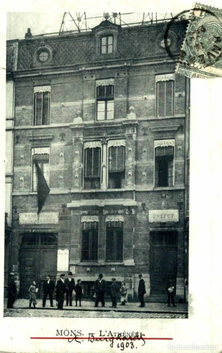 1903 MONS L´ATHENEE (Postales - Postales Extranjero - Europa)