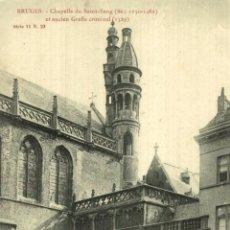 Postales: BRUGES CHAPELLE DU SAINT SANG ET ANCIEN GREFFE CRIMINEL. Lote 185718907