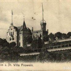 Postales: OPPENHEIM A RH VILLA FROWEIN. Lote 185785897