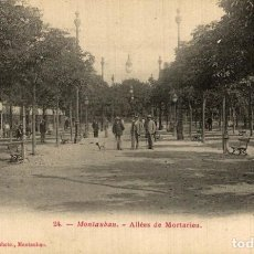 Postales: MONTAUBAN ALLÉES DE MORTARIEU. Lote 185939161