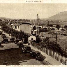 Postales: LA COTE BASQUE - 64 HENDAYE. LES TROIS PONTS. FRANCIA FRANCE FRANKREICH. Lote 185939538