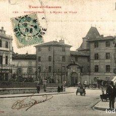 Postales: MONTAUBAN - L HOTEL DE VILLE. Lote 185939605