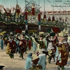Cartes Postales: NICE GRANDE TRIBUNE PLACE MASSENA PENDANT LES FETES DU CARNAVAL. FRANCIA FRANCE FRANKREICH. Lote 185940070