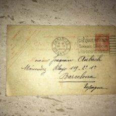 Postales: TARJETA POSTAL ANTIGUA AÑO 1922. Lote 186064231