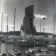 Postales: NEGATIVO PORTUGAL LISBOA 1966 KODAK 55MM GRAN FORMATO NEGATIVE PHOTO FOTO LISBON PUERTO BARCOS. Lote 186077610